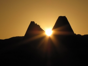sunrise on pyramids