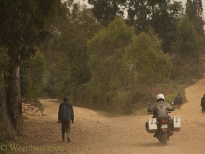 riding the forests in north Rwanda 1