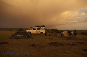 camp site in western Tanzania