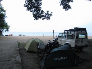 camping along the lake Kivu