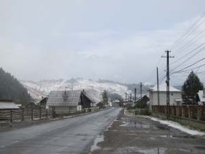 snow in the maramures